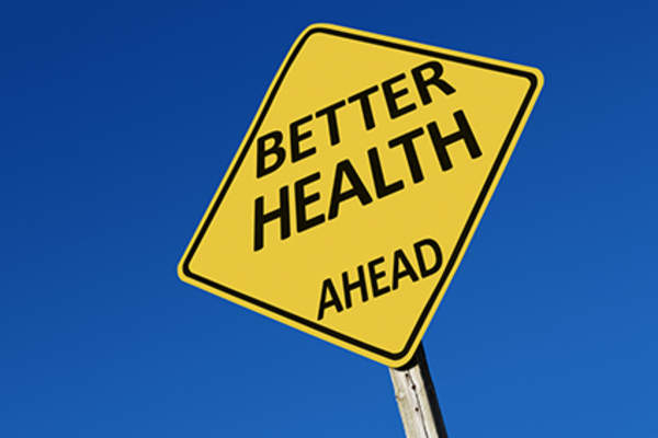 Better health ahead sign.