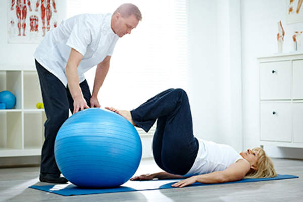 Exercise ball physical therapy.