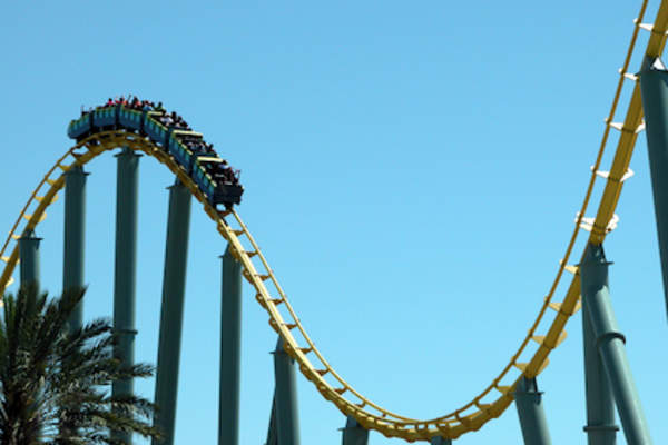 Rollercoaster; like bipolar ups and downs.