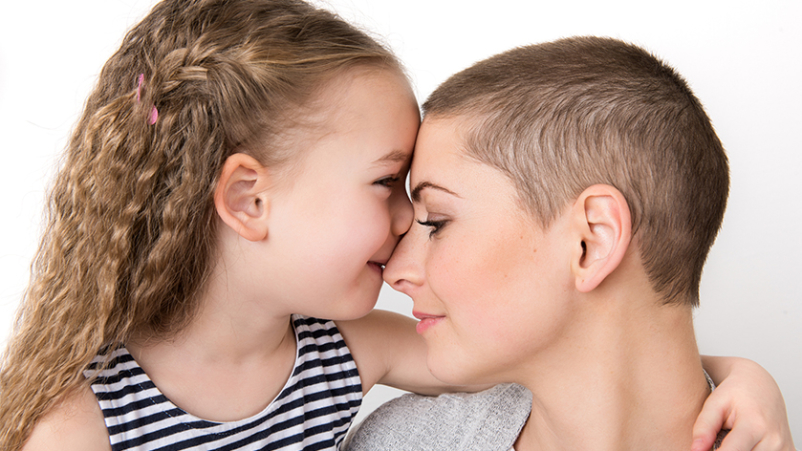 Cancer survivor with young daughter.