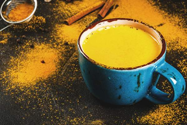 Cup of tumeric tea.