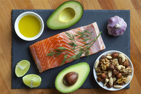 Foods high in healthy fats.