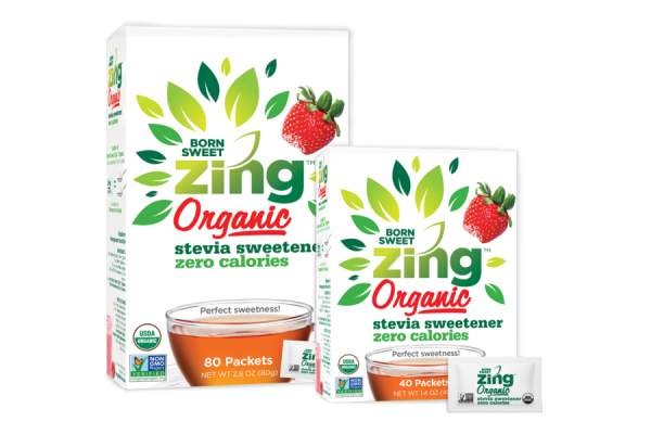 Zing individual packets of powdered stevia