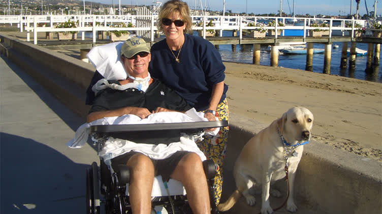Kathi Koll and Don, one year post-stroke