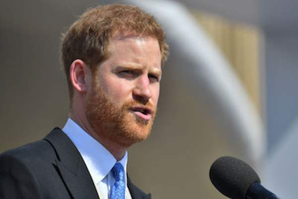 Prince Harry, Duke of Sussex speaks during The Prince of Wales' 70th Birthday Patronage Celebration held at Buckingham Palace on May 22, 2018 in London, England.