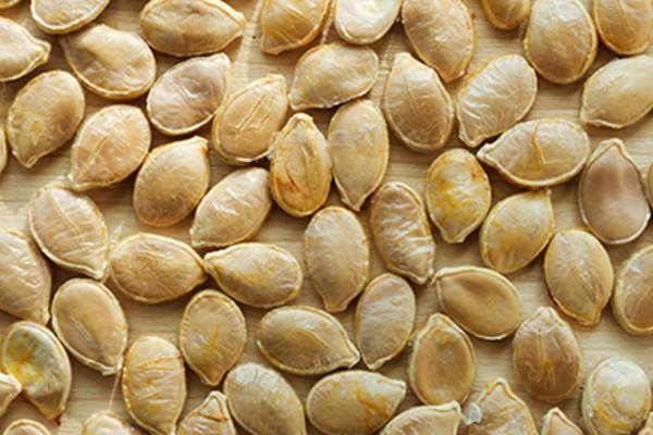 Toasted pumpkin seeds.