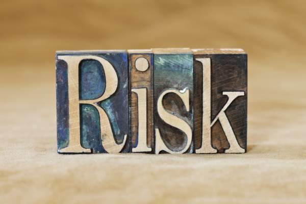 Risk spelled in blocks.