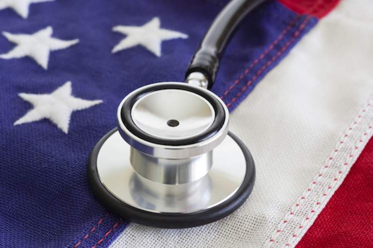 American Flag, Stethoscope, Healthcare And Medicine, Reform