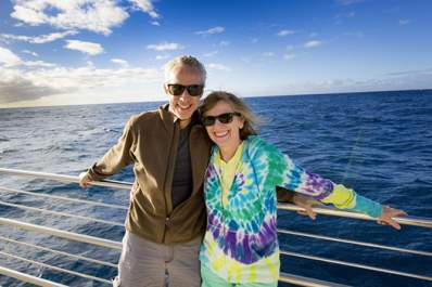 couple on cruise ship image