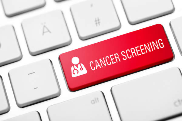Cancer screening button on keyboard