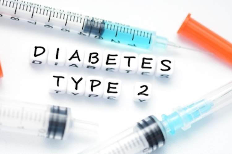 Type 2 diabetes and insulin syringes.