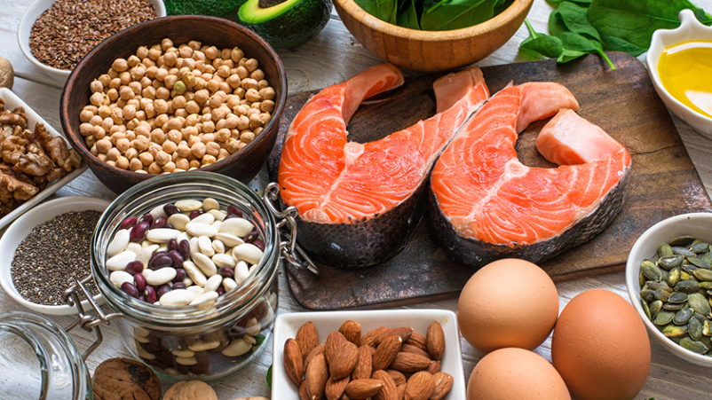 Foods with healthy omega-3 fatty acids.