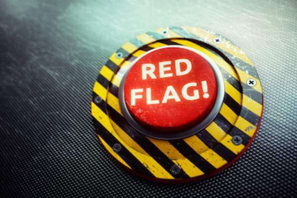 Red flag emergency button.