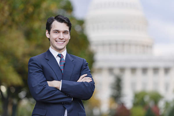 Young congressional staffer.