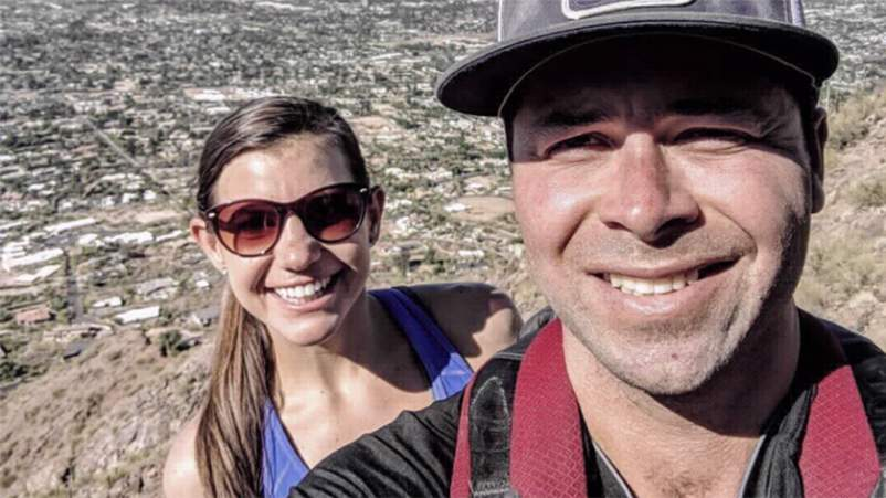 Emil and his wife hiking Camelback Mountain in Scottsdale, AZ.