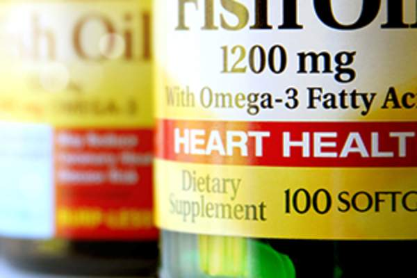 Fish oil supplements image.