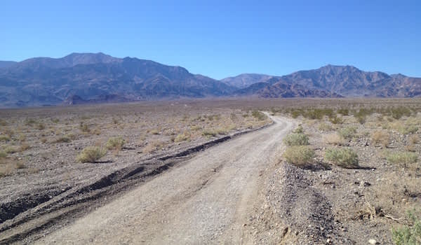Journey Into Chronic Fatigue Syndrome-Looking toward her campsite in Death Valley