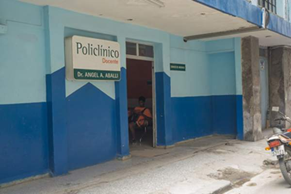 Health clinic in a foreign country.