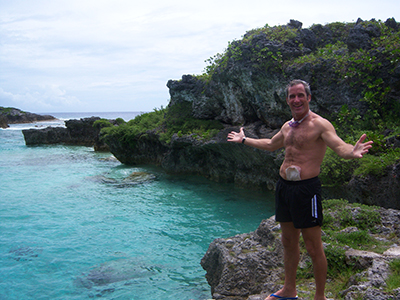 Swimming with sea snakes, Niue Island, South Pacific