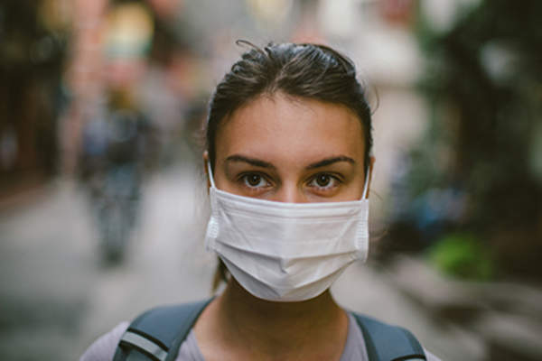 Surgical mask.