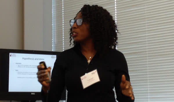 Helen Oladapo explains her research
