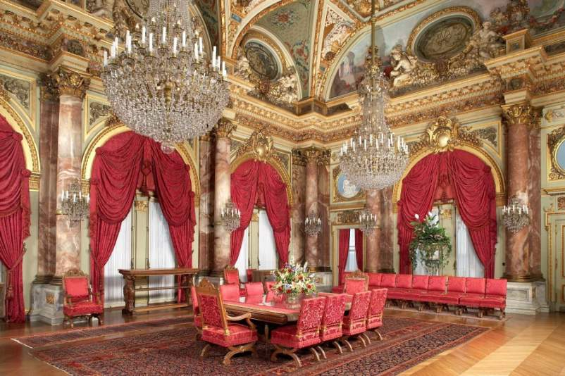The Breakers mansion dining room
