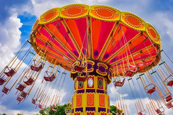 amusement park swings image