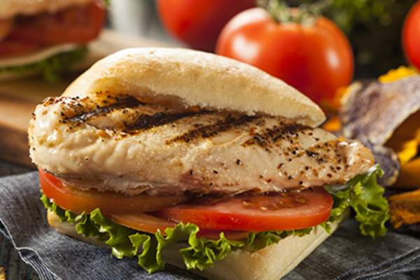 Grilled chicken sandwich.