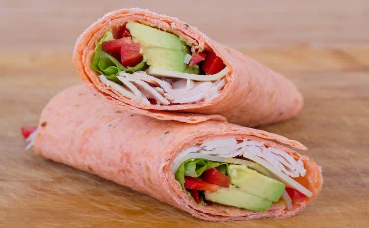 Turkey and avocado wrap.