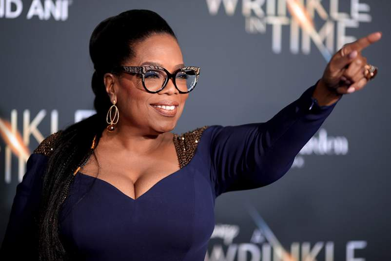 Oprah Winfrey attends the premiere of Disney's 'A Wrinkle In Time' at the El Capitan Theatre on February 26, 2018 in Los Angeles, California.