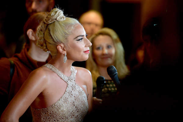 Lady Gaga attends the 32nd American Cinematheque Award Presentation honoring Bradley Cooper at The Beverly Hilton Hotel on November 29, 2018 .