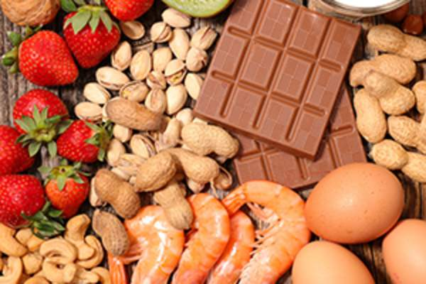 Foods that commonly cause food allergies.