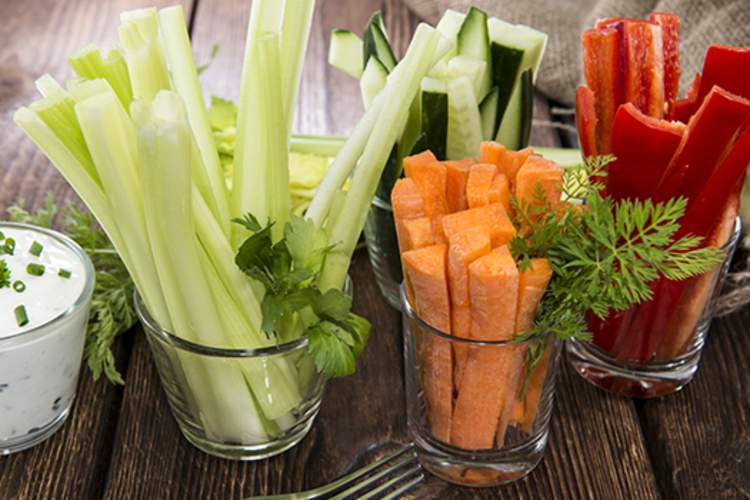 Eat fresh vegetables instead of trigger foods during the holidays.