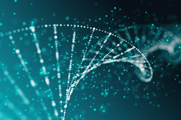 DNA strand, medicine concept.