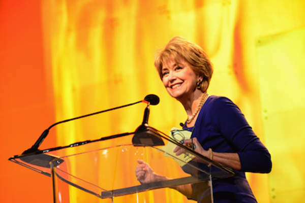 Award-winning anchor and author Jane Pauley speaks at 2014 Pennsylvania Conference For Women at Philadelphia Convention Center.