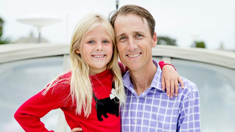 Steve Melen and his daughter.