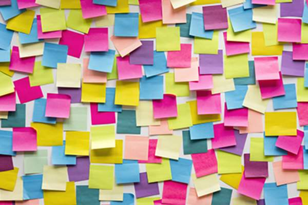 Sticky Note Post It Board