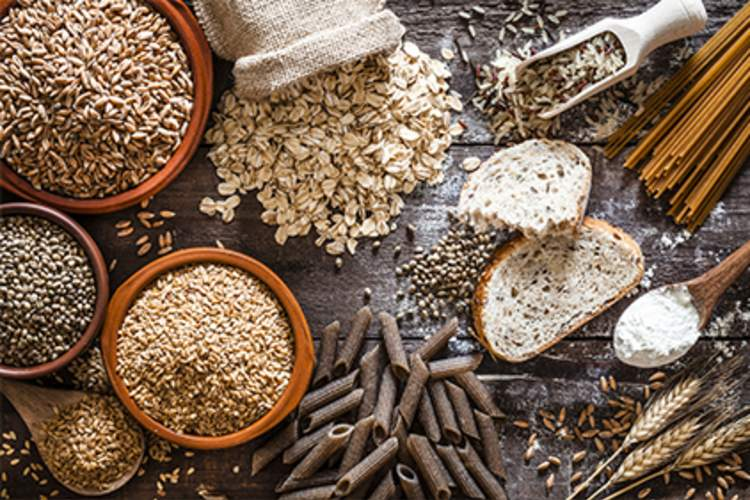 Whole grain, high fiber foods.