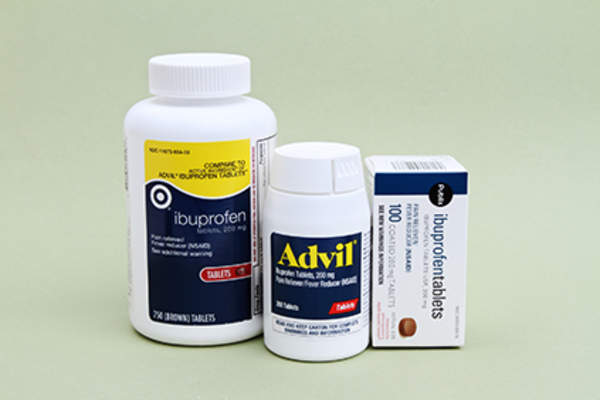 Ibuprofen and advil packaging.