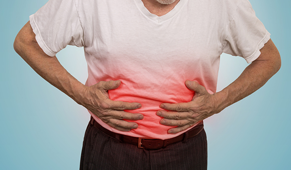 Man with gut inflammation