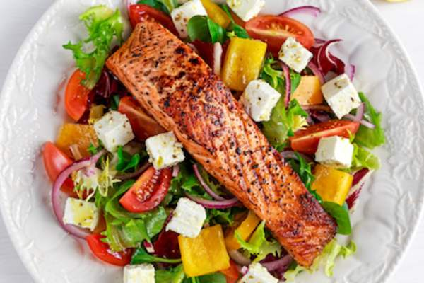 Health salmon salad