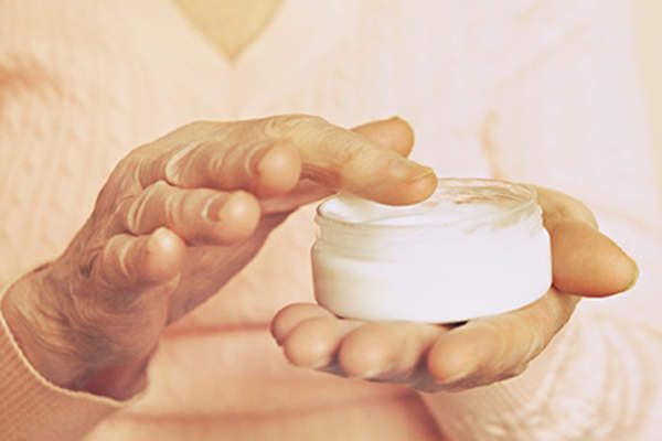 Skin cream to prevent damage from leukemia treatment.
