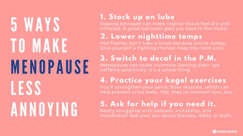 Menopause self-care graphic