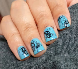 Water decals on Monica Sengupta's nails.