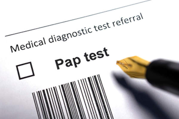 Pap test order.