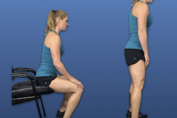 Chair squats image.