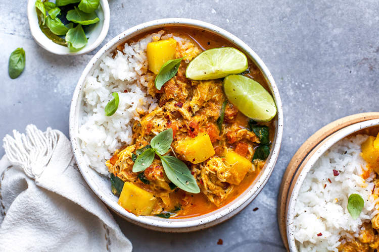 Red Curry Chicken and Rice