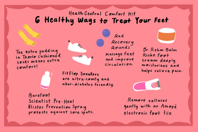 diabetic feet infographic