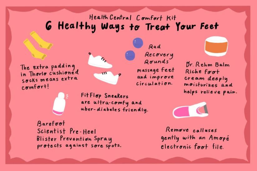 diabetic feet infographic
