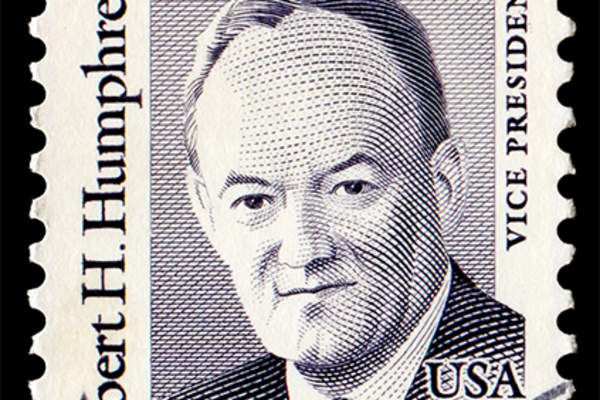 Hubert Humphrey postage stamp.